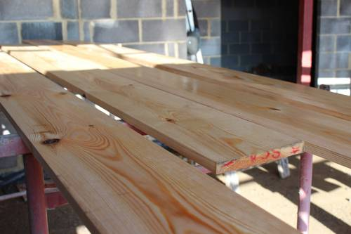 Preserving the timber for the facia boards