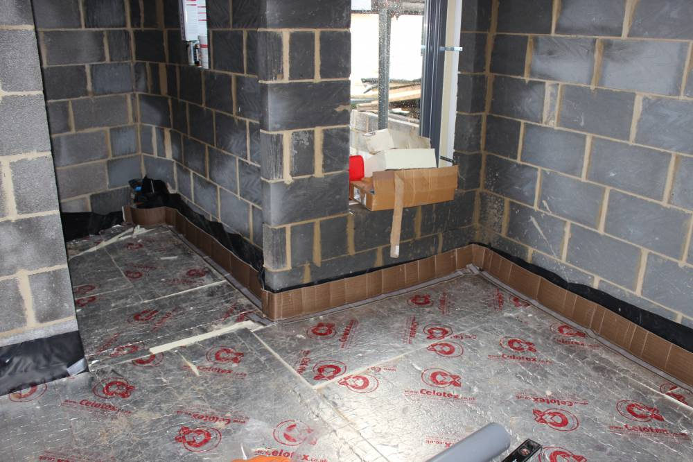 Floor Insulation In The Bedroom And En Suite Bathroom