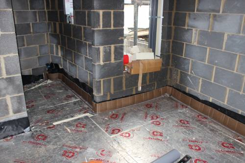 Floor insulation in the bedroom and en-suite bathroom