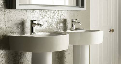 Wickes Style Basin for the bathroom - follows the curved theme of the bath