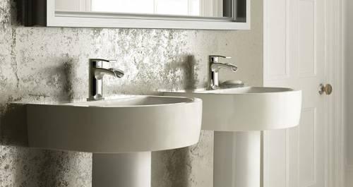 Wickes Style Basin for the bathroom - follows the curved theme of the bath