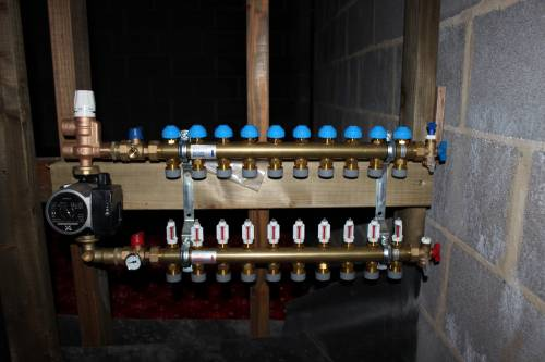 The heating manifold which will control the water