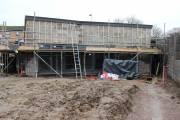 A muddy building site
