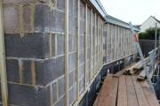 Timber battens on for cladding