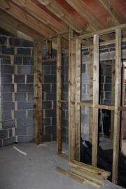 Partition walls and built-in wardrobe for the 2nd bedrooom