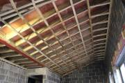 Roof trusses and timber work in the ceiling