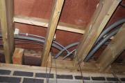 Water pipe junction in the roof space