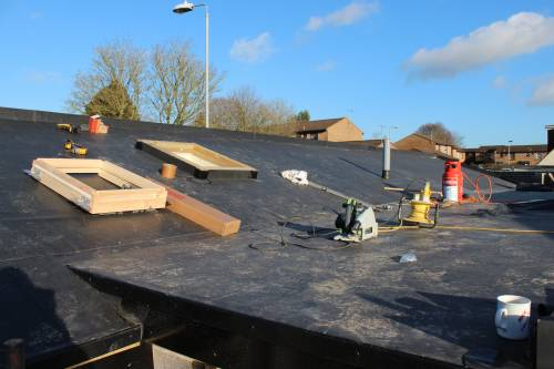 Great weather to be working on the roof.