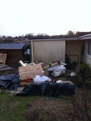 Timber, plastics, foam and bricks to be sorted