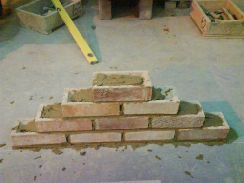 The small brick wall that I built during training