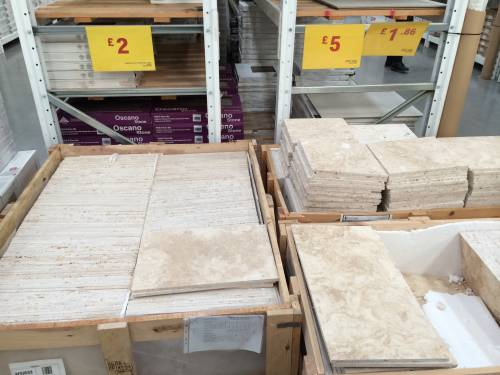 Travertine is the look we're after