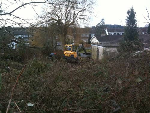 Lots of work to get this lot cleared