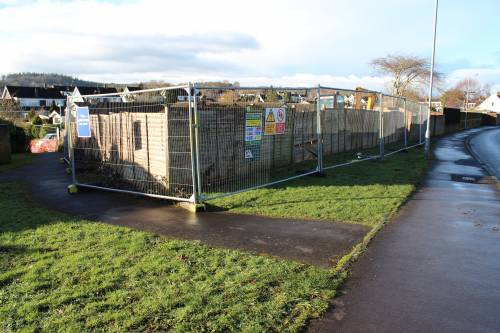 Heras fencing to keep things safe and secure