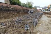 Steel reinforcement cage assembled