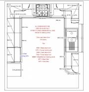 The Howdens designed kitchen plan