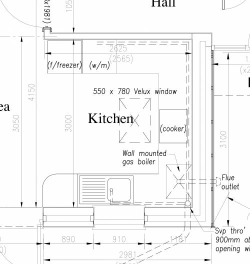 Kitchen plan close-up