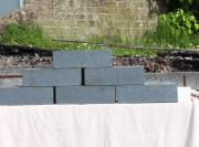 Brick by brick… and the boundary wall takes shape