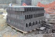 Finished pile of 440 cut blue engineering bricks