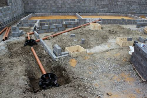 Drainage pipes from the bathroom and en-suite