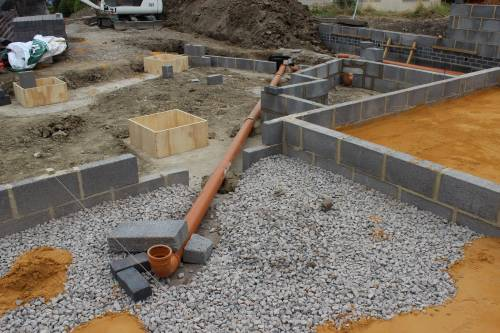 Pipes held in placed until the concrete is poured over the top