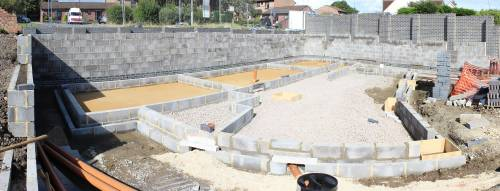 Final loads if ballast filling in the surrounding blocks