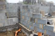 They are still spaced at similar intervals throughout the block work