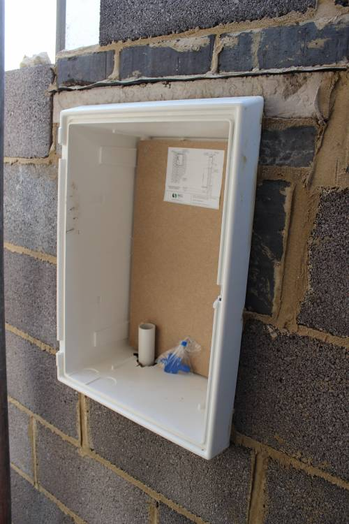 Electric meter box in