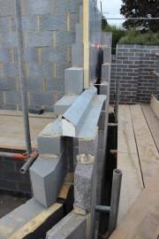 Galvanised steel lintel in over the spare room window