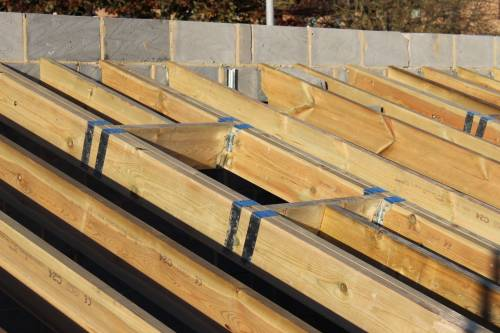 Spaces left for the Velux roof windows