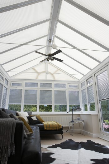 Clip-in conservatory roof blinds