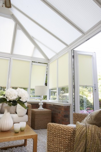 Modern sunroom blinds