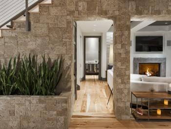 Decorative stone walling