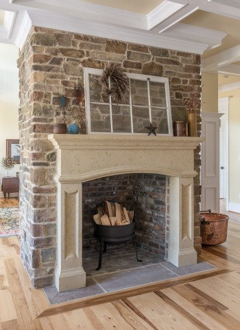 Fireplace and chimney breast stone cladding