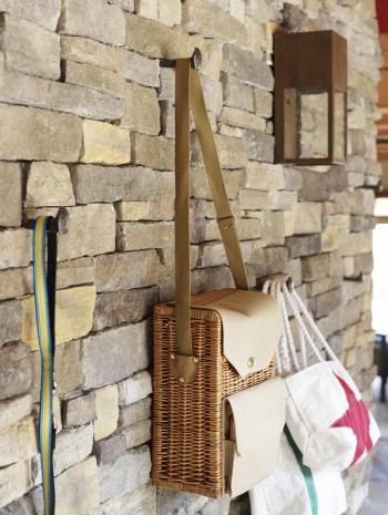 Feature wall stone cladding