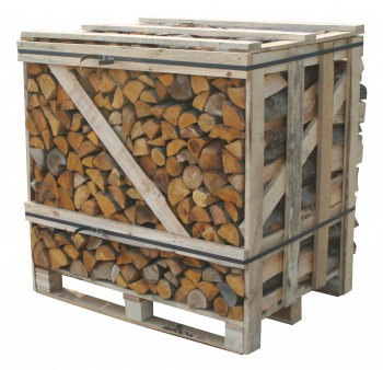 Crate of log burner logs